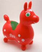 Rody Pony Horse: Italian Red